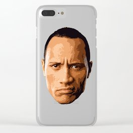 """Dwayne """"The Rock """"Johnson Clear iPhone Case"""