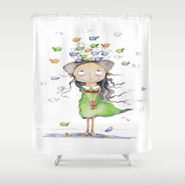 NIÑA Shower Curtain