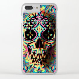 Fancy Skull Clear iPhone Case