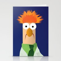 muppets Stationery Cards featuring Beaker - Muppets Collection by Bryan Vogel