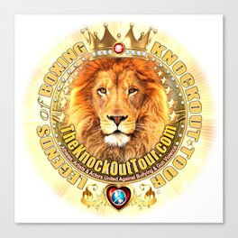 The Knockout Tour Lion Crest Canvas Print