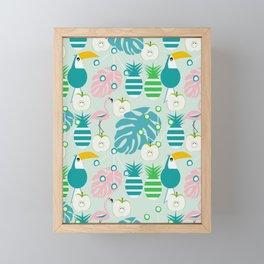 Modern tropical summer vibes Framed Mini Art Print