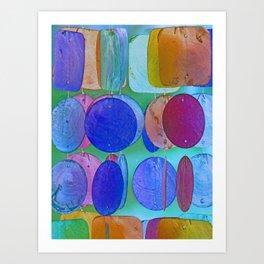 Circles & Squares Pattern I Art Print