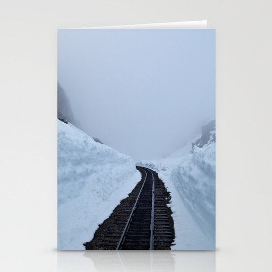 The winter pass Stationery Cards
