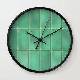 Cyan Tiles Wall Clock