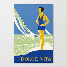 Dolce Vita Jazz Age Summer Travel Canvas Print