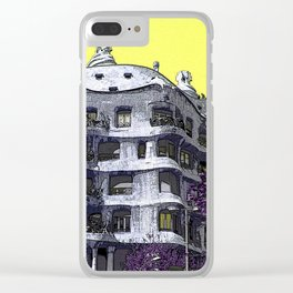 Casa Mila by legend architect Antoni Gaudi - Barcelona, Spain Clear iPhone Case