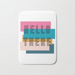 'Hello there' retro graphic design Bath Mat