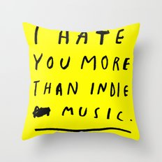 INDIE MUSIC Throw Pillow