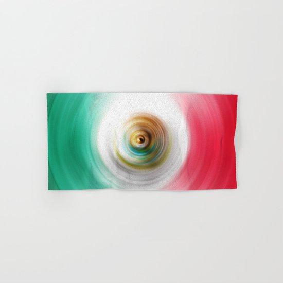 Green, White and Red Swirl Hand & Bath Towel
