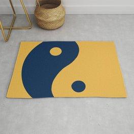 Yin and yang, day and night balance and harmony Rug