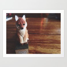 Doorstop Red Fox Art Print