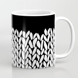 Half Knit  Black Coffee Mug