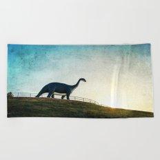 Where Dinosaurs Walk Beach Towel