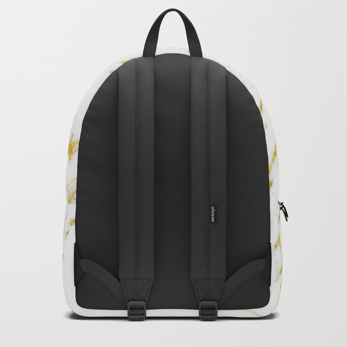 Gold Marble - Yellow Gold Marble Metallic Backpack