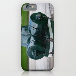 Tilting Green Waterous Pacer Fire Hydrant Crooked Fire Plug iPhone Case
