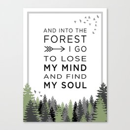 Into the Forest I Canvas Print