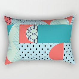 Geometric Collage Fusion Rectangular Pillow