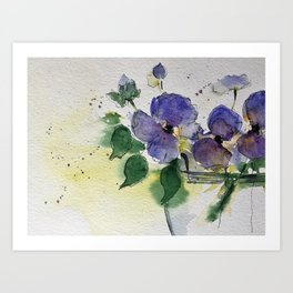 purple flowers 2 Art Print