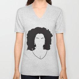 Faceless Oprah Winfrey Unisex V-Neck