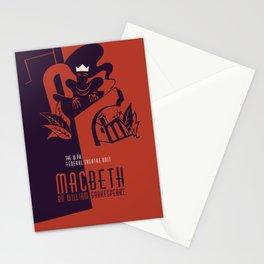Retro Macbeth William Shakespeare Stationery Cards