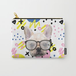 Dog with glasses Carry-All Pouch