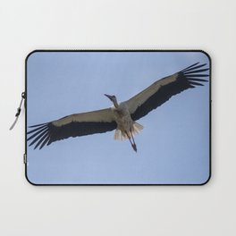 Flying white stork Laptop Sleeve