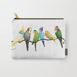 Winter Parakeets & Cockatiels Carry-All Pouch