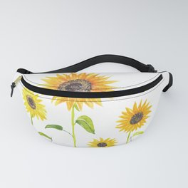Sunflowers Watercolor Painting Fanny Pack