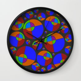 Bubble red & blue 09 Wall Clock