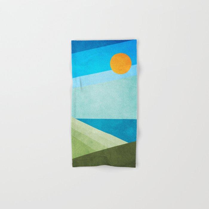 Green Fields Blue Waters Hand & Bath Towel