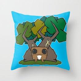 Wee Beasty Throw Pillow