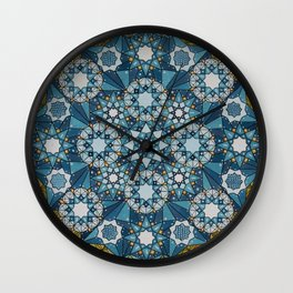 blue geometry  Wall Clock