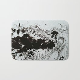 Ink breathing dragon Bath Mat