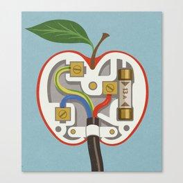 Apple plug Canvas Print