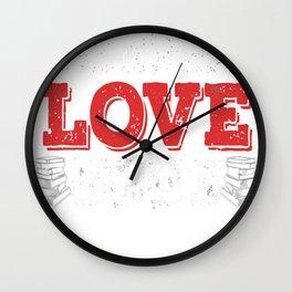 live love read copy Wall Clock
