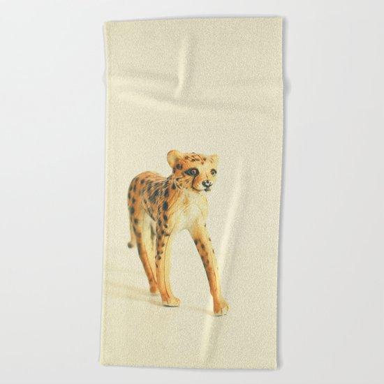 Catwalk Cheetah Beach Towel