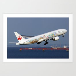 Japan Airlines - JAL Boeing 777-246 Art Print