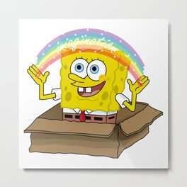 spongebob squarepants imagination Metal Print