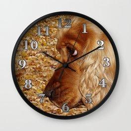 Dog Cocker Spaniel Wall Clock
