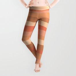 Layer Cake Stripes in Blush Tones Leggings