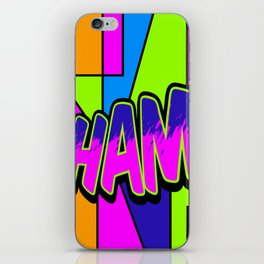 wham in neon iPhone Skin