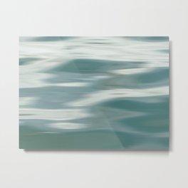 Abstract wave and light Metal Print
