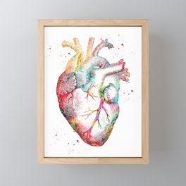 Human Heart Framed Mini Art Print