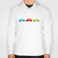 cars Hoodies featuring cars by laura mendoza v.