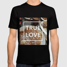 true love: breakfast Black Mens Fitted Tee MEDIUM