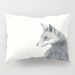 Red fox in graphite Pillow Sham