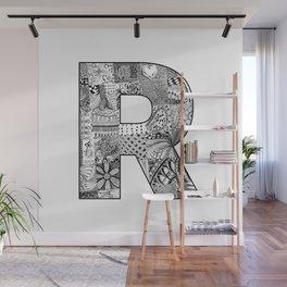Cutout Letter R Wall Mural