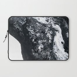 Black and White Abstract Laptop Sleeve