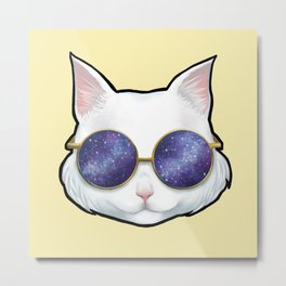 Galaxy cat Metal Print